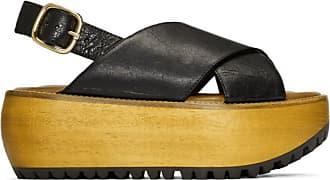A Plateformes Noires Sandales Nappa En Marni Cuir PqFT5Ozw