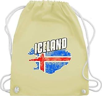 amp; Pastell Bag Umriss Gym Shirtracer europameisterschaft Iceland Wm110 Fußball Gelb Unisize Turnbeutel 2020 Vintage 0wOwZP