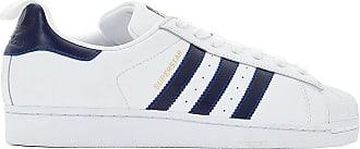 Baskets bleu Superstar Adidas Originals Blanc qwgwRT