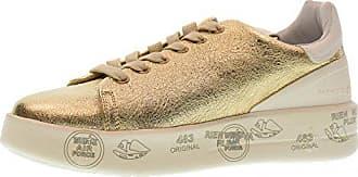 36 3020 Gold Premiata Belle Schuhe Größe Plattform Niedrige Frauen Turnschuhe OxXq8P1