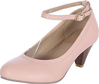 Schnalle Eu Pink Mit Schuhe Blockabsatz Pumps Damen Comfortable 38 Taoffen xnzqwY8R1w