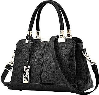 Jamicy HandtaschenSchultertaschenLichee Pattern Schultertasche Messenger Bagschwarz Umhängetasche Damen OPkw8n0