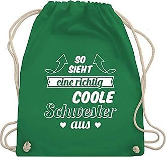 Shirtracer Unisize Grün Tante Richtig Sieht Aus Schwester Turnbeutel amp; Coole Bag Gym Wm110 Eine So rqwrzv