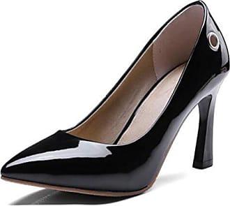 46 Pumps Damen Schwarz Toe Business Pointed High Easemax Heels Lack Geschlossen Eu Halbschuhe 6APxqA8w