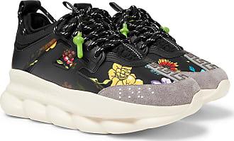 Reaction Panelled Chain Black Sneakers Versace Neoprene Hq7Wxa
