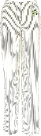 Bianco Pantaloni Outlet Viscosa a Pantaloni 41 prezzi 2017 scontati Dondup da donna 0dS80w