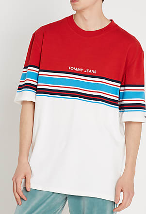 En shirt Tee Ample Tommy Color Rayé Coton Col Jeans Rond block f7zHqwT