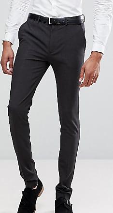 Pantalones Traje Carbón Ajustados Tall De En Muy Gris Asos Design PqwgEdg