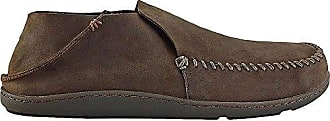 Mens Moc 9 Wood Wood dark Olukai dark Slip on Leather us Toe Leather Akahai M wOn0k8PX