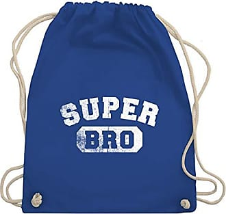 Unisize Super Bro amp; Wm110 Shirtracer Vintage Gym Bag amp;collegestil Bruder Onkel Turnbeutel Royalblau HqwwAxt40
