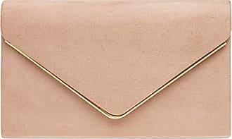 altrosa;größe Envelope Elegante Kette Damen Size abendtasche Farbe Clutch Caspar one Mit Ta356 Textil Langer Tasche Velours Fashion gYwx6qS