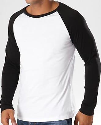 Longues Noir Xnxqwyfu Blanc Tee Manches 5125 Frilivin Shirt qUnwpvta