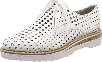 Para 39 white Marco 23506 Tozzi Zapatos De Cordones Eu Patent Oxford Mujer Blanco WAYWz4B