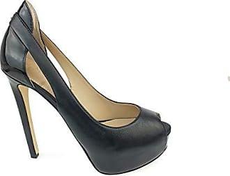 Con Eu Guess Negro spuntato Zapatos Helga Para 37 Punta Toe leat Tacón De Mujer open Abierta w4S8Zwxf