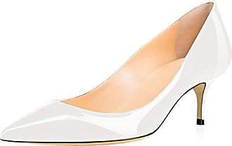 Merumote Heels Tägliche Usual Eu Pumps Weiß Auf Spitz Schuhe Slip Damenmode Für 40 Mittel Patent Walk rq14ra