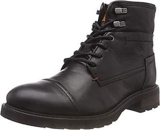 44 Mix Para Negro Hombre Tommy Botas black Boot 990 Textile Militar Leather Hilfiger Eu Winter 4UwxxAqFOT