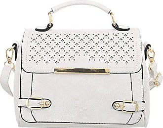 Ital Shopper Handtasche Damen Creme Henkeltasche Used design Beuteltasche Tasche Schultertaschen Umhängetasche HrqPwHC1