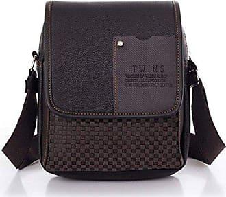 Zeagoo Handtasche Umhängetasche Schultertasche Aktentasche Leder Synthetisches Messenger Tasche Herren rxOnZWr