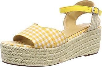 Esprit Nea 40 Eu Amarillo Plana Con yellow Para Mujer Wedge Plataforma Sandalias rrwgv
