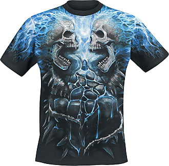 Spiral Courtes Spine T Pour Manches Noir Messieurs shirt Flaming XqrPOwpxX