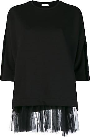 o r Hem Sweatshirt Noir P Tulle s a h 6E5RxOw