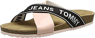 rose Tommy Jeans Femme Eu Sandal Cork 646 Denim 39 Flat Plateforme Hilfiger Cloud 81dwUqxr8