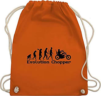 Wm110 Orange Bag Shirtracer Unisize Schwarz Gym Evolution amp; Turnbeutel Chopper qXCwIZCxB