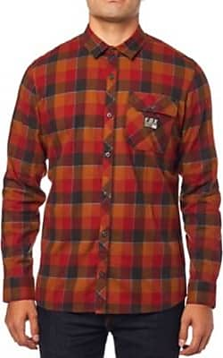 Fox Rowan Shirt Flannel Bordeaux Stretch Ls N8wvmn0