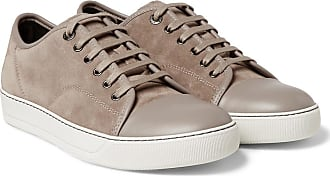 And toe Leather Lanvin Sneakers Suede Beige Cap t4SnTqFZ
