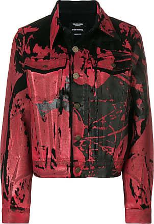 Calvin Denim Jacket Rouge Klein 205w39nyc Print Painted 7x7Prq