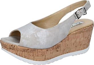 Chaussures Beige Keys Sandales Argent Daim Bz868 Femme RwwAZqd4g