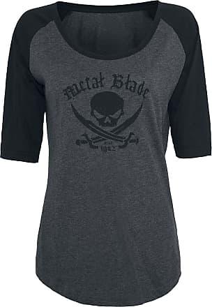 shirt T Metal zwart Logo Pirate Blade Grijs ttpfI