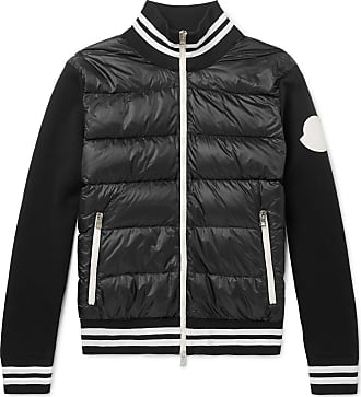 Down And Jacket Shell fit Quilted Black Jersey Moncler Slim 1xqHYY