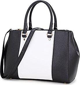 cream Essener Kunstleder weiß Leahward Cwjm443cwjm443 Tote Damen schwarz Mode Berühmtheit Cwd223 Schultertaschen Handtasche Groß Qualität dBerCxoW