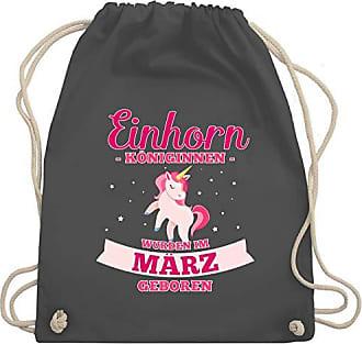 Einhorn Königinnen Gym Wm110 März amp; Im Unisize Shirtracer Bag Dunkelgrau Turnbeutel Geburtstag Wurden Geboren 5qpTU
