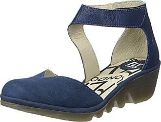 Mujer Azul 40 Y London De Eu blue Pats801fly Tobillo Tacon Con Zapatos Fly Correa Para xnP1XvO1p