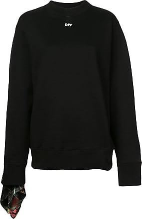 Sleeve Foulard white Noir Sweatshirt Off RwBqTvHE