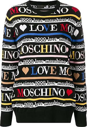 Love Pull À Motif Moschino Noir Monogrammé qwZrw5