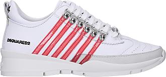 Kalbsleder Rot Weiß 01501466 Nubukleder Dsquared2 Sneaker Logo Low Pvc OPkXZilwuT