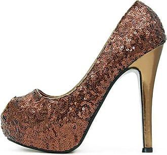 Party 38 Kayla Heels High Shoes Bronze Lack Mit Sohle Pumps Plateau Rr5wRz