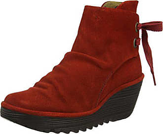 Yama Bottes 021 red 42 Femme Rouge London Fly Courtes 6Rx5wf6q