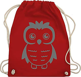 Füchse Bag Gym Shirtracer Eule Co amp; Unisize Turnbeutel Rot Wm110 Eulen vzTnzrx5