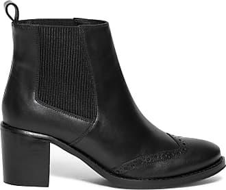 Boots En Cuir Noir Chelsea Éram Perforé YPqp05xw