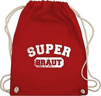 Shirtracer Wm110 Bag amp; Unisize Braut Jga Super Vintage Turnbeutel Rot Gym Junggesellinnenabschied rPRrqx0
