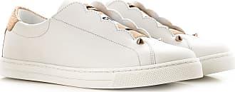 2017 Femme Blanc Fendi Cuir Sneaker 36 xR5xqI