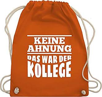 Gym War amp; Das Bag Keine Turnbeutel Sprüche Kollege Der Shirtracer Unisize Orange Ahnung Wm110 wqF7POI