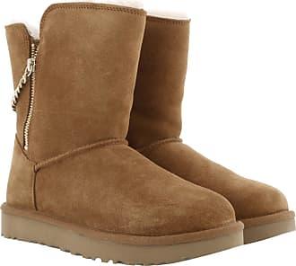 Chestnut Ugg Braun Classic Boots Zip Short W Sparkle rXxArB