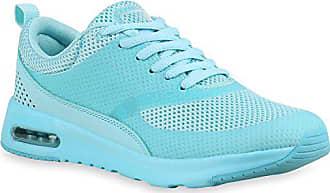 142363 Schuhe Lauf Stiefelparadies Neon Runners Damen Sport Flandell Türkis Sneakers Herren 38 Berkley q4408wBxT