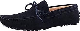 Herren Santimon Schwarz Mokassins Leder 44 Casual Slipper Business Bummler Schnüren Halbschuhe Hausschuhe Fahren Schuhe rBshtQCdx