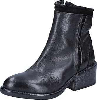 Femme By594 Cuir Moma Bottines Chaussures Noir YgxwFTPq